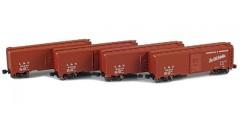 Louisville & Nashville 40' AAR Boxcar | 4-Car Set