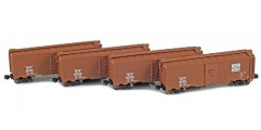 Western Pacific 40' AAR Boxcar | 4-Car Set