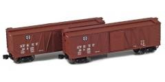 ATSF 40' Outside Braced Boxcar | 2-Car Set