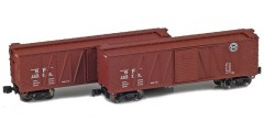 Southern Pacific 40' Outside Braced Boxcar | 2-Car Set