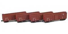 Southern Pacific 40' Outside Braced Boxcar | 4-Car Set | Set 1