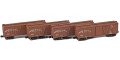 Northern Pacific 40' Outside Braced Boxcar | 4-Car Set