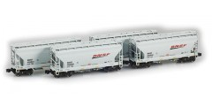 "ACF 2-Bay Hopper BNSF ""Swoosh"" 4 Car Set"