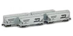 ACF 2-Bay Hopper BN 4 Car Set
