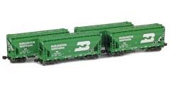 ACF 2-Bay Hopper Burlington Northern | Green 4-Car Set