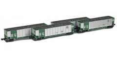 BethGon Coalporter BNSF (Green) Set 3