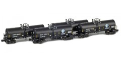 17,600 Gallon Corn Syrup Tank Cars  | ADMX, ADM (w/ Leaf Logo & Conspicuity Stripes) Runner Pack