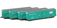 Greenville 60' Boxcar | Penn Central 4-Car Runner Pack
