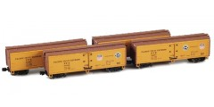 40' PFE Wooden Reefer 4-Car Set (900801-4)