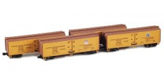 40' PFE Wooden Reefer 4-Car Set (900802-3)